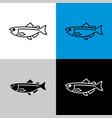 salmon fish icon line style symbol of vector image