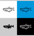 salmon fish icon line style symbol salmon vector image vector image
