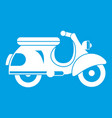 scooter icon white vector image