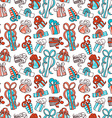 Seamless festive pattern vector image vector image