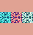 set abstract modern seamless graphic patterns vector image