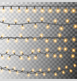 set glowing christmas bulbs christmas garland vector image vector image