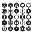 set of gear wheels isolated on white background vector image