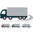 set signs with truck image vector image