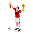 Soccer Winner 2016 Sports 3D Isometric vector image vector image