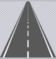 straight asphalt road with white markings vector image vector image