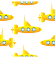 Submarine seamless pattern vector image vector image