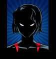 superheroine portrait ray light silhouette vector image vector image