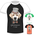 T-shirt with Labrador Retriever gentleman dog vector image vector image