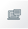 text content icon line symbol premium quality vector image vector image