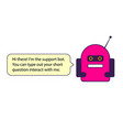 the red chat bot this is the vector image vector image