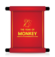 The year of monkey vector image