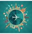 Travel around the world flat design vector image vector image