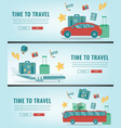 travel banners summer holidays travel and