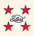 vintage stars vector image