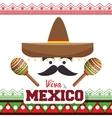viva mexico poster celebration vector image vector image