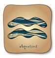 Zodiac sign - Aquarius Doodle hand-drawn style vector image vector image