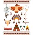 Aztec decorative elements vector image