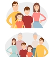 Big family with children parents and grandparents vector image
