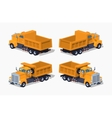 Empty orange dumper vector image