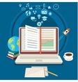 Concept of online education vector image