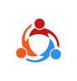 three people swirl logo