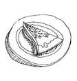 cake design element shabby food image sketch vector image
