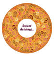 set of hand-painted doodle icons with food ice vector image