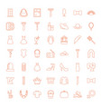 49 elegance icons vector image vector image