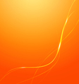 Abstract Lines Orange Background vector image