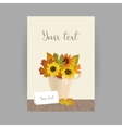 Autumn bouquet in cup vector image