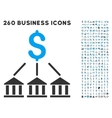 bank association icon with flat set vector image vector image