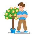 bitcoin tree vector image vector image
