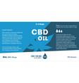 blue cannabis oil cbd oil marijuana leaf vector image vector image
