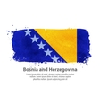 Bosnia and Herzegovina flag vector image