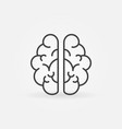 brain outline icon mind concept sign in vector image