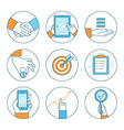 business concepts and icons vector image vector image