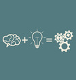 business mechanism concept brain plus idea gears vector image vector image