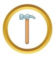 Carpenter hammer icon vector image