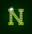 casino and resort letter n luxury letter vector image