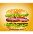 cheeseburger vector image vector image