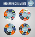 circle infographics set 2 vector image vector image