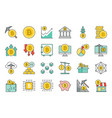 crypto currency concept icon set vector image vector image