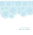 doodle circle water texture horizontal frame vector image vector image