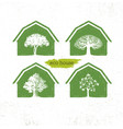 eco barn house creative green design vector image vector image
