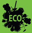 eco in black vector image