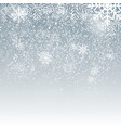 falling shining snowflakes and snow on blue vector image