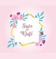 flowers wedding flower foliage nature label vector image vector image