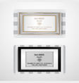 frame set business cards vector image vector image