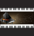 grand piano with keyboards and musicnotes vector image vector image